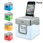 iHome Color Changing Dual Alarm Clock w/USB Charge/Line-In Play