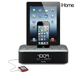 iHome Triple Charging Clock Radio w/2 Lightning Docks & USB
