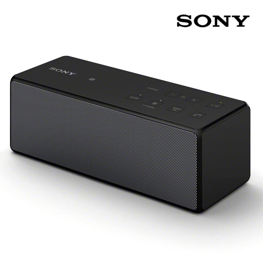 sony portable bluetooth speaker black. Black Bedroom Furniture Sets. Home Design Ideas