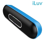 iLuv Rollick Portable Bluetooth Speaker, Blue