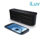 iLuv MobiOut Splash-Resistant Bluetooth Speaker, Black