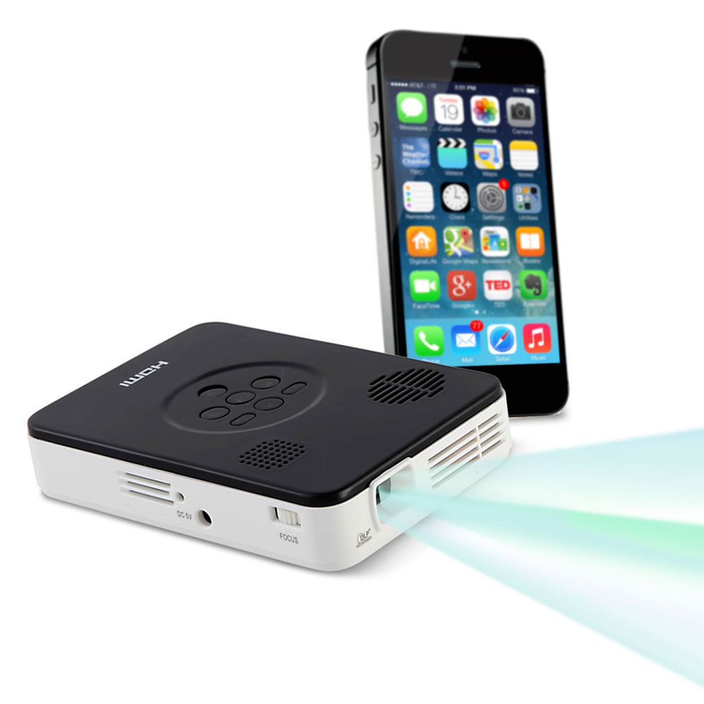The smartphone cellphone pocket projector for Portable projector for iphone