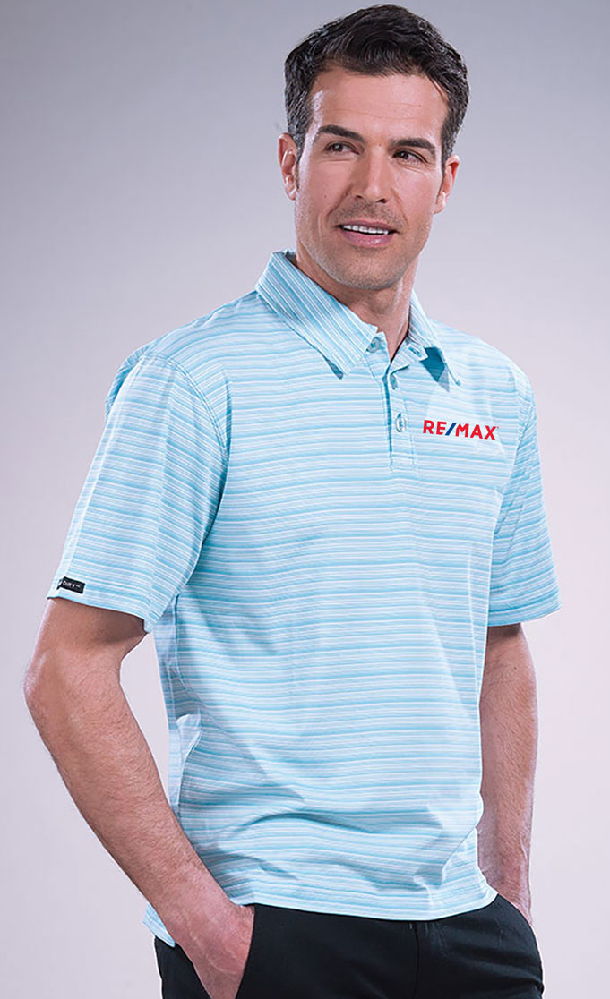 Men's  Micro Stripe Princeton Performance Polo
