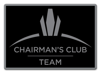 Chairman's Club Team Pin - Black