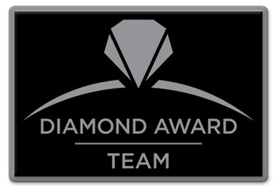Diamond Award Team Pin - Black