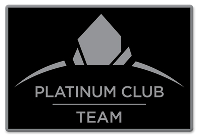 Plantinum Club Team Pin - Black
