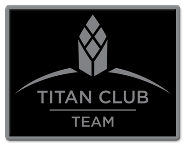 Titan Club Team Pin - Black