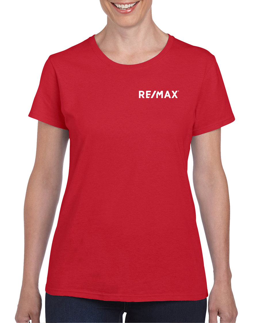 Semi-Fitted Ladies' T-Shirt - Red