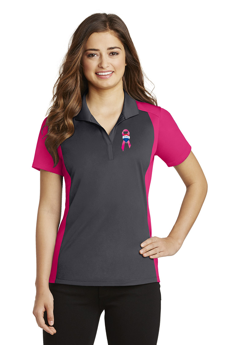 Ladies Colorblock Micropique Sport-Wick® Polo - Awareness