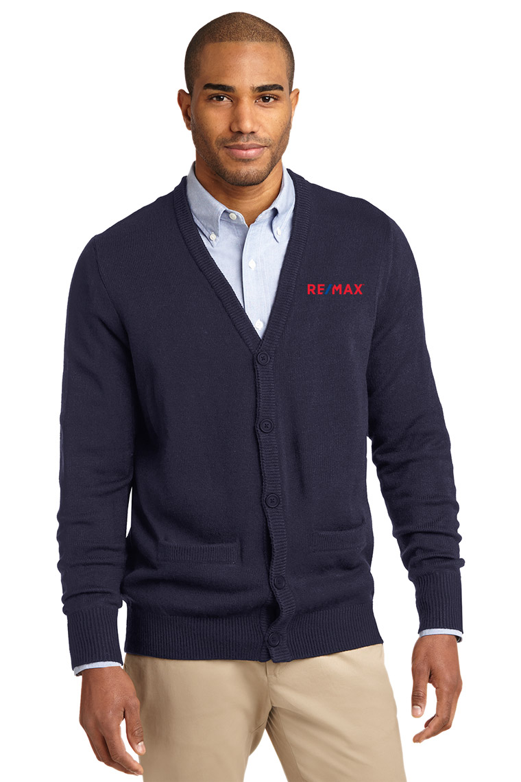 Men's Value V-Neck Cardigan Sweater with Pockets