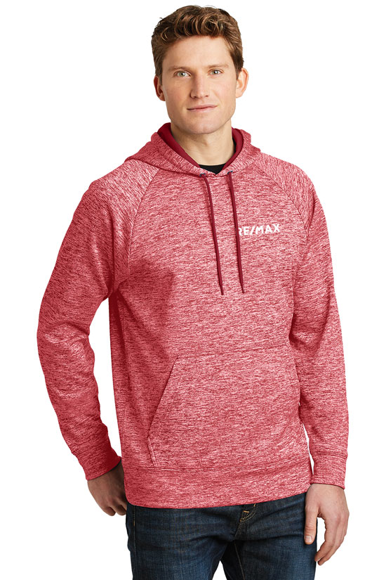 Men's PosiCharge® Electric Heather Fleece Hooded Pullover