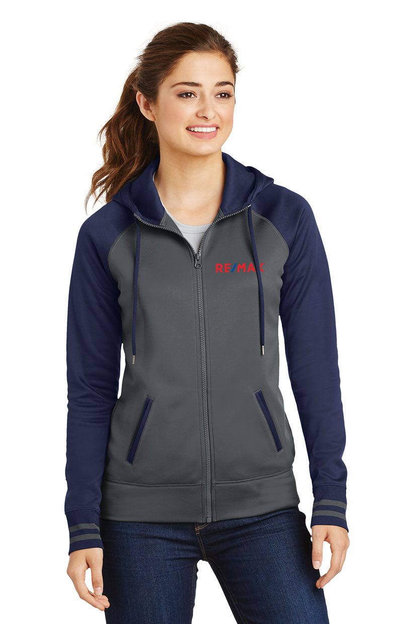Ladies Sport-Wick® Varsity Fleece Full-Zip Hooded Jacket