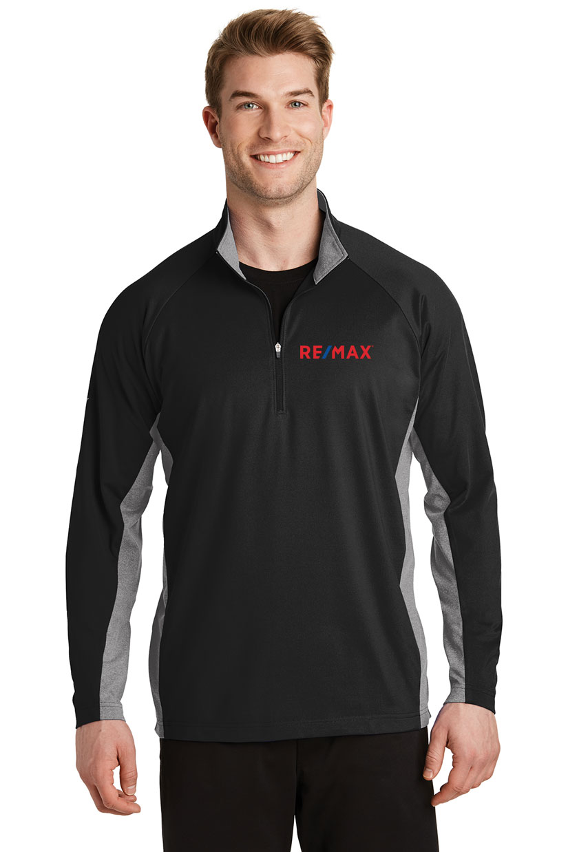 Men's Sport-Wick® Stretch Contrast 1/2-Zip Pullover