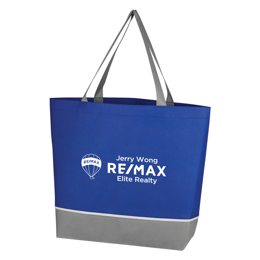 Non-Woven Overtime Tote Bag - Royal Blue - Personalized