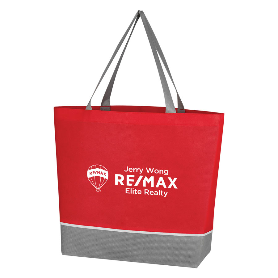 Non-Woven Overtime Tote Bag - Red - Personalized