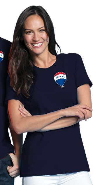 RE/MAX Balloon Ladies' T-Shirt (L/C) - Navy