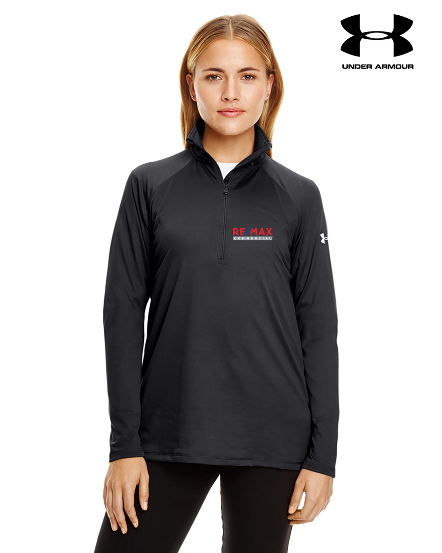 Ladies' Under Armour Tech Quarter-Zip - Black