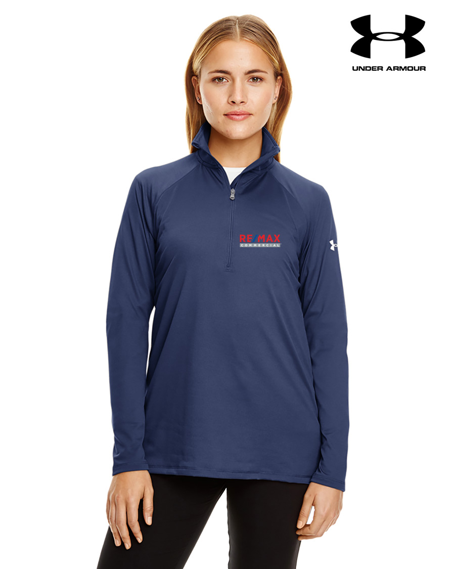 Ladies' Under Armour Tech Quarter-Zip - Navy