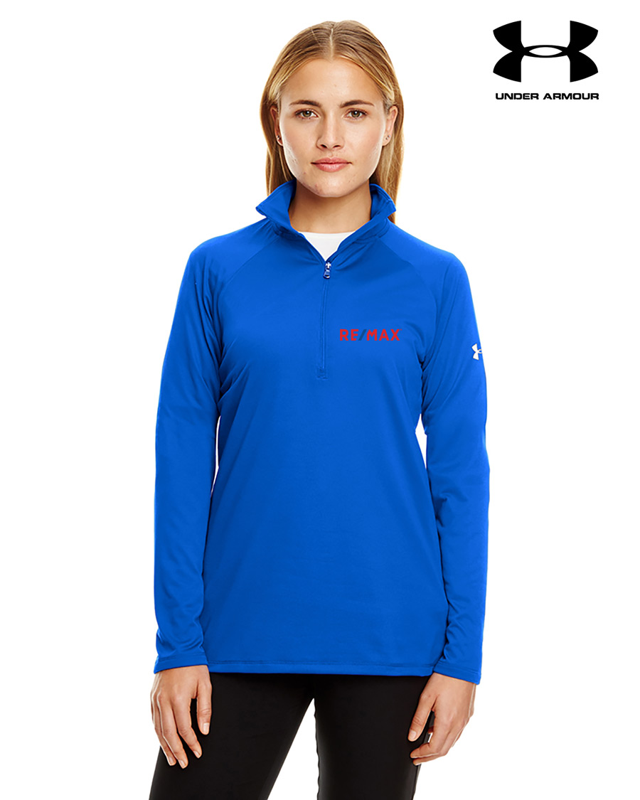 Ladies' Under Armour Tech Quarter-Zip - Royal