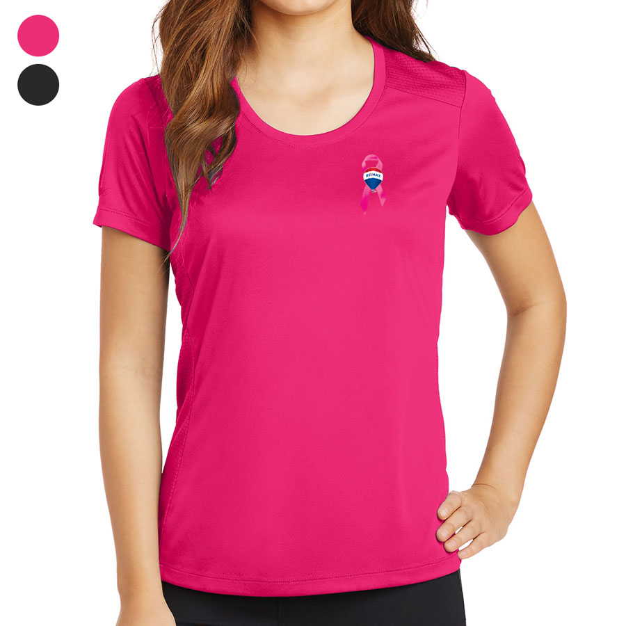 Ladies' PosiCharge® Elevate Scoop Neck Tee - Awareness