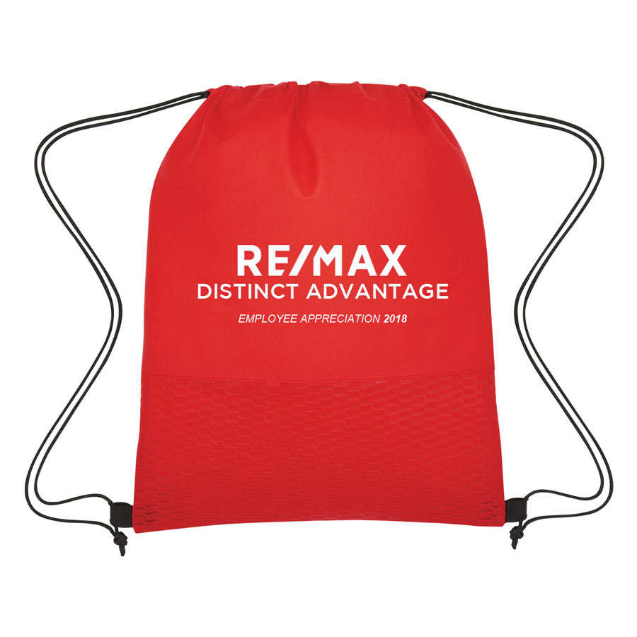 Non-Woven Wave Design Drawstring Bag - Employee Appreciation 2018