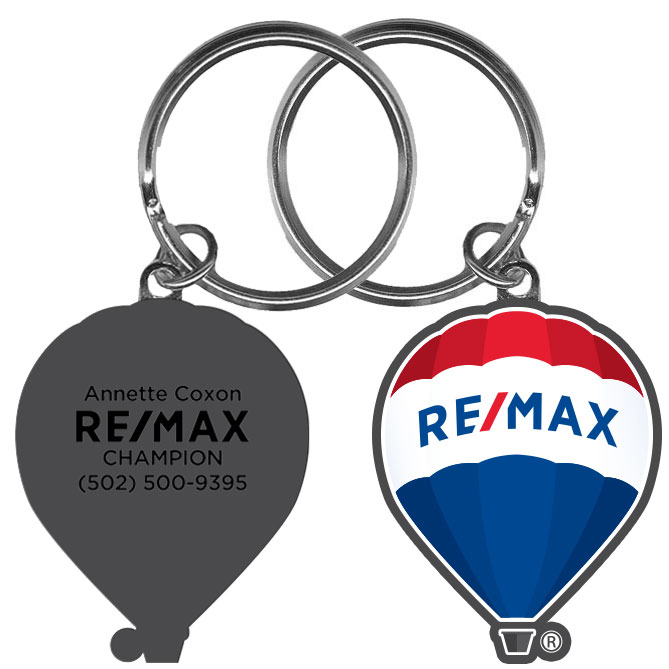 RE/MAX Balloon Metal Keychain - Personalization