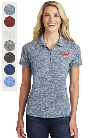 Ladies Sport-Tek® PosiCharge® Electric Heather Polo