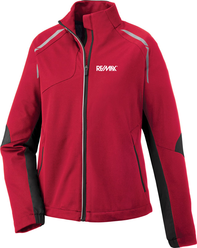 Hybrid Performance Soft Shell Jacket (Ladies') (Red)