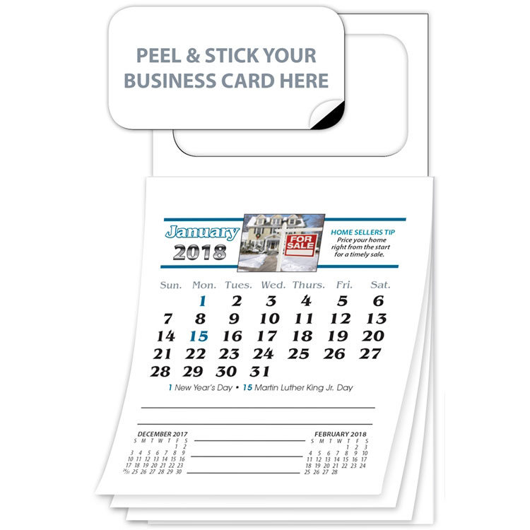 Magnetic Business Card Calendar 2018