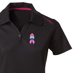 Ladies' Contrast Sports Shirt - Awareness
