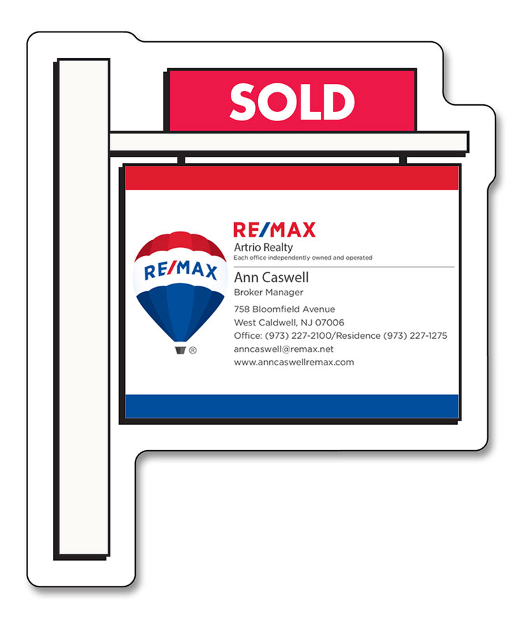 Real Estate Sold Sign Shape Magnet