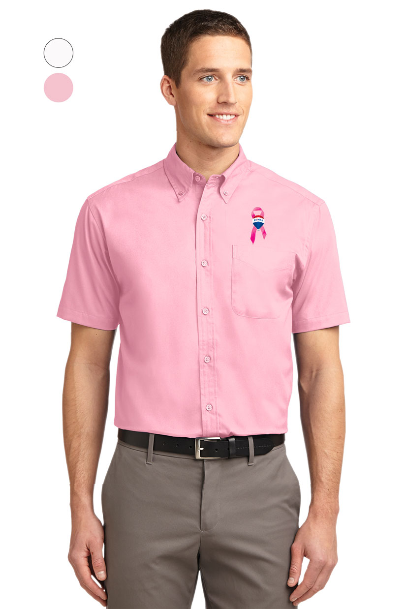 Mens Short Sleeve Easy Care Shirt - Awareness