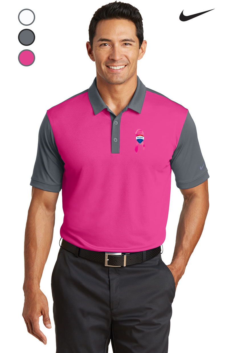Nike Golf Dri-FIT Colorblock Icon Polo - Awareness