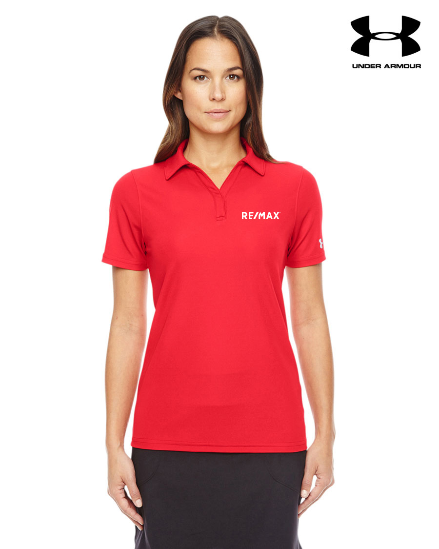 Ladies 39 under armour corp performance polo for Bulk under armour shirts
