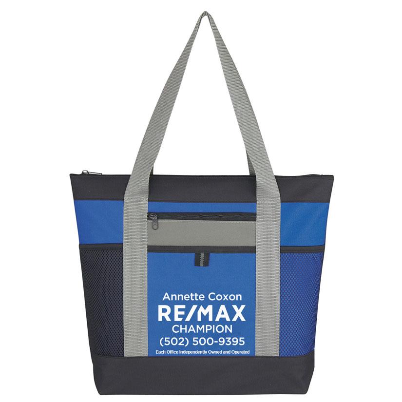 tri color tote bag personalized