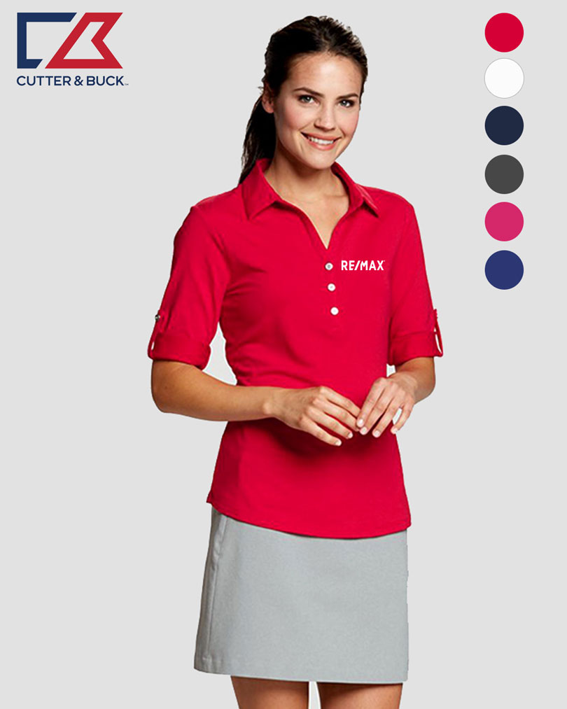 Cutter & Buck Ladies' E/S Thrive Polo