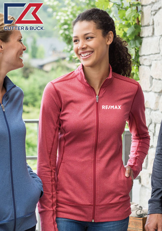 Cutter & Buck Ladies' CB DryTec Ladies Topspin Full Zip