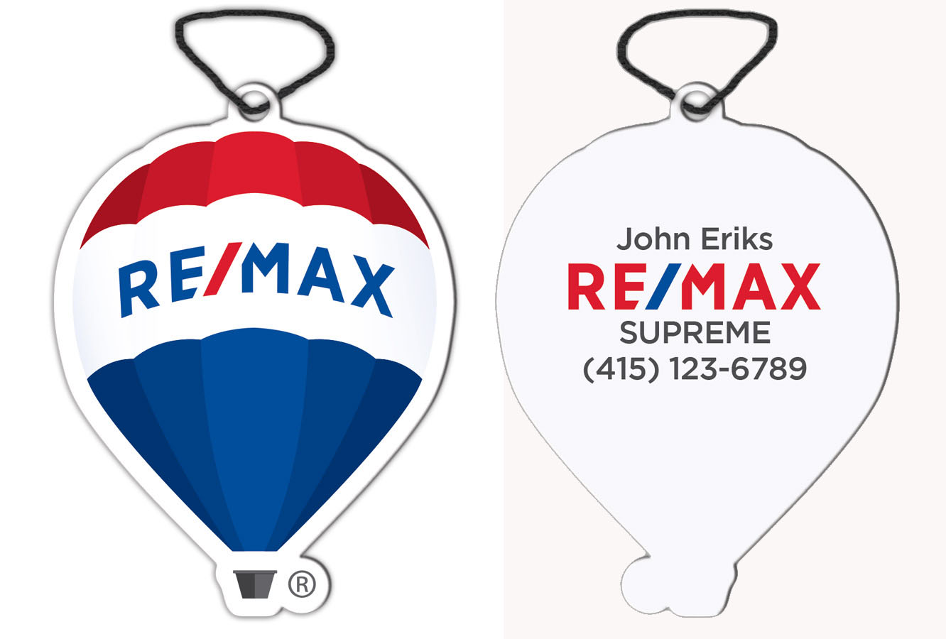 RE/MAX Balloon Air Refreshner - Personalized