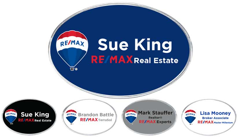 Large Oval Name Badge