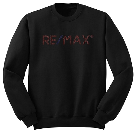 Black Comfort Zone Sweater - RE/MAX Bling (Red/Blue)
