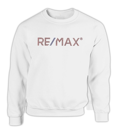 White Comfort Zone Sweater - RE/MAX Bling (Red/Blue)