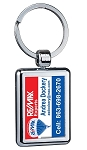 Two Sided Budget Chrome Plated Domed Keytag - Personalized