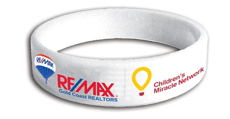 RE/MAX Silicone Bracelet (White) - Children Miracles Network