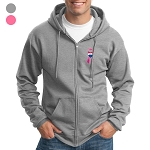 Core Fleece Full-Zip Hooded Sweatshirt - Awareness