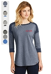 Ladies New Era® Heritage Blend 3/4-Sleeve Baseball Raglan Tee