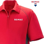 Performance Zippered Polo (Men's) (Red)