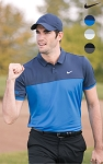 Men's Nike icon colour block polo