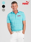 PUMA Men's Golf Barcode Polo