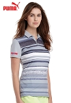 Ladies' PUMA Washed Stripe Polo PC