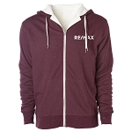 Unisex Heavyweight Sherpa Lined Heather Zip Hood